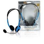 BasicXL | Headset On-Ear 2x 3.5 mm Ingebouwde Microfoon 2.0 m Blauw