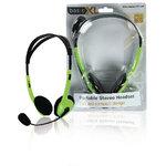 BasicXL | Headset On-Ear 2x 3.5 mm Ingebouwde Microfoon 2.0 m Groen