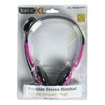 BasicXL | Headset On-Ear 2x 3.5 mm Ingebouwde Microfoon 2.0 m Roze