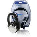 HQ | Hoofdtelefoon Over-Ear 3.5 mm 6.0 m Zilver/Zwart