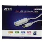 Actieve USB 2.0 Verlengkabel USB A Male - USB A Female 12 m Ivoor
