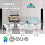 Nedis | WiFi Smart LED-Lamp | Warm Wit | GU10 | 3-Pack
