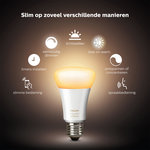 Philips | Slimme Verlichting | Philips Hue starter kit - White Ambiance - E27 (3 lampen + bridge + dimmer)