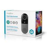 Nedis | Slimme deurbel | WiFi Smart Videodeurbel | Bediening via App | microSD-Sleuf | HD 720p_