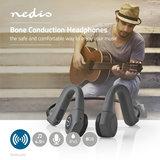 Nedis | Bone Conduction Hoofdtelefoon | Afspeeltijd 6,5 Uur | Bluetooth®-Verbinding | 8 GB Intern Geheugen | Grijs_