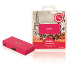 4 Poorten Hub USB 2.0 Roze