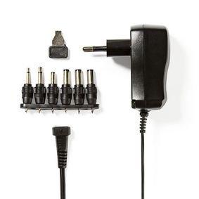 Universele AC-voedingsadapter | 3/4,5/5/6/7,5/9/12 V DC | 0,6 A