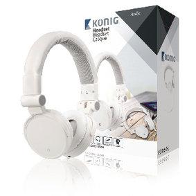 König | Headset On-Ear 3.5 mm Ingebouwde Microfoon Wit