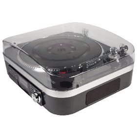 Platenspeler SD / LP / Radio 1.6 W Zwart