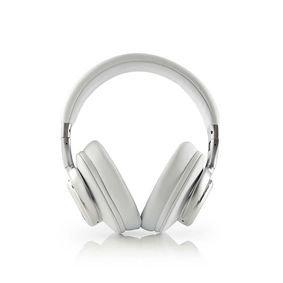 Nedis | Draadloze hoofdtelefoon | Bluetooth | Over-ear | Actieve ruisonderdrukking (ANC) | Wit