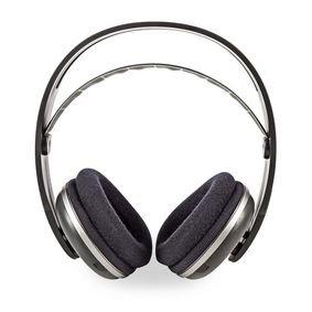 Nedis | Draadloze hoofdtelefoon | Radiofrequentie (RF) | Over-ear | Oplaadstation | Zwart / zilver