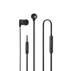 Nedis | Bedrade Koptelefoon | 1,2 m Platte Kabel | In-Ear | Ingebouwde Microfoon | Aluminium | Grijs