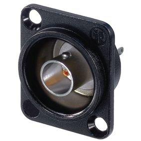 Appliance socket BNC black 75 Ohm