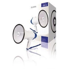 Megafoon Ingebouwde Microfoon Wit/Blauw