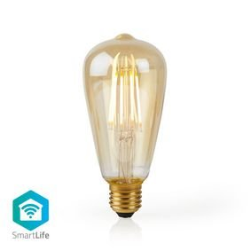 Nedis | WiFi Smart LED Filament Lamp | E27 | ST64 | 5 W | 500 lm