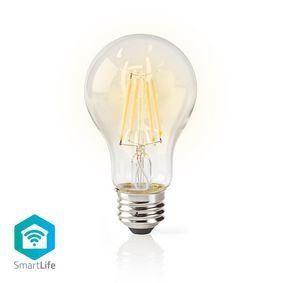 Nedis | Slimme LED-Lamp met Gloeidraad en Wi-Fi | E27 | A60 | 5 W | 500 lm | Helder