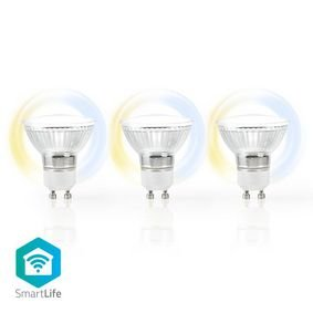 Nedis | WiFi Smart LED-Lamp | Warm tot Koel Wit | GU10 | 3-Pack