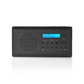 DAB+-radio | 3 W | FM | Klok- en alarmfunctie | Zwart