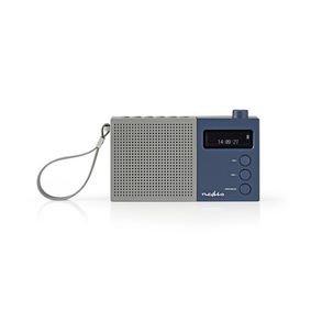 Digitale DAB+ radio | 4,5 W | FM | Klok & alarm | Grijs / blauw