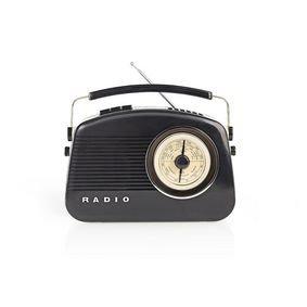 DAB+-radio | 5,4 W | FM | Draaggreep | Zwart