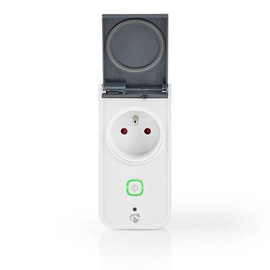 Nedis | WiFi Smart Plug voor Buiten | Spatwaterdicht | IP44 | Stroommeter | Frans Stopcontact Type E | 16 A