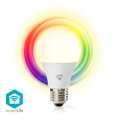Nedis | WiFi smart LED-lamp | Full-Colour en Warm-Wit | E27