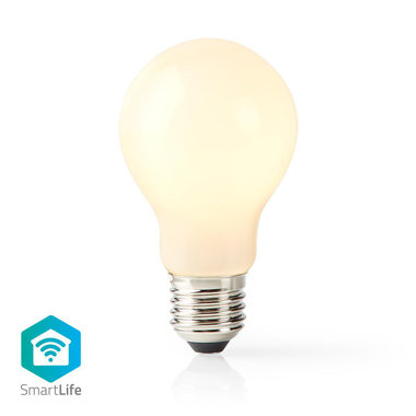 Nedis | WiFi Smart LED-Lamp | E27 | A60 | 5 W | 500 lm | Retro | Wit