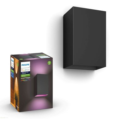 Philips | Slimme Verlichting | Philips Hue Outdoor Resonate wandlamp - White & Color - zwart