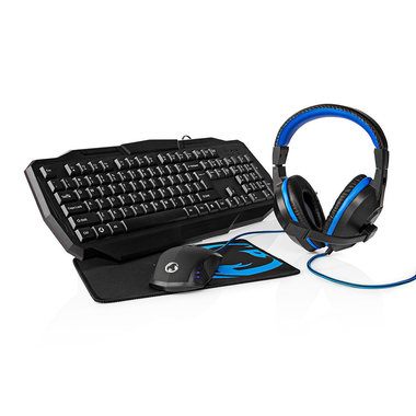 Gaming Combo Kit | 4 in 1 | Toetsenbord, Koptelefoon, Muis, Muismat