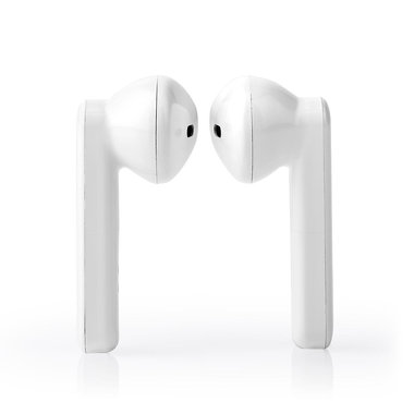 Nedis | Volledig Draadloze Bluetooth®-Oordopjes | 3 uur Afspeeltijd | Spraakbediening | Charging Case | Wit