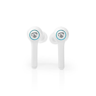 Nedis | Volledig draadloze Bluetooth®-oordopjes | 6 uur afspeeltijd | Spraakbediening | Aanraakbediening | Charging case | Wit