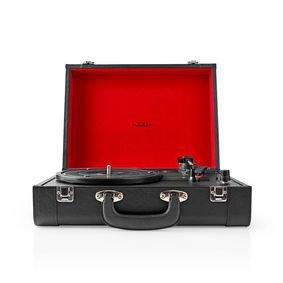 Platenspeler | 18 W | Koffer | Zwart