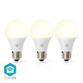 Nedis | WiFi Smart LED-Lamp | Warm Wit | E27 | 3-Pack