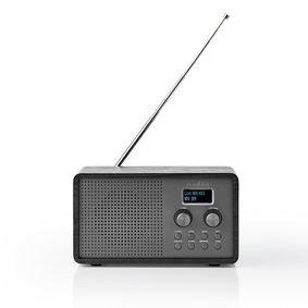 DAB+ Radio   4,5 W   FM   Klok & Wekkerfunctie   Zwart