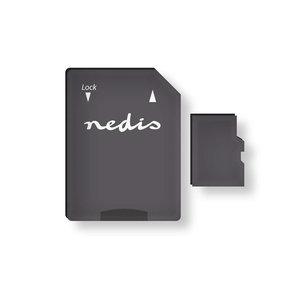 Nedis | Geheugenkaart | microSDHC | 128 GB | Tot 90 Mbps schrijven | Klasse 10