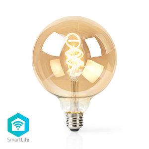 Nedis | WiFi Warm tot Koel Wit LED Filamentlamp| Gedraaid | E27 | G125 | 5,5 W | 350 lm