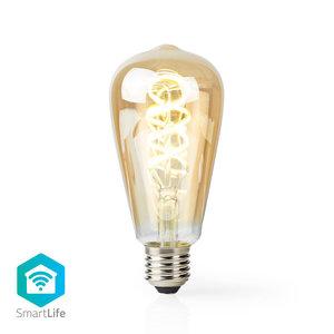 Nedis | Wi-Fi Warm tot Koel Wit LED Filamentlamp| Gedraaid | E27 | ST64 | 5,5 W | 350 lm