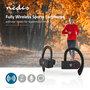 Nedis | Volledig draadloze Bluetooth®-sport oordopjes | 8 uur afspeeltijd | Oorhaakjes | Spraakbediening | Charging case | Zwart